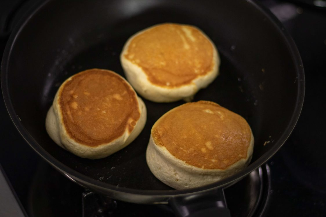 Preparation of the pancakes