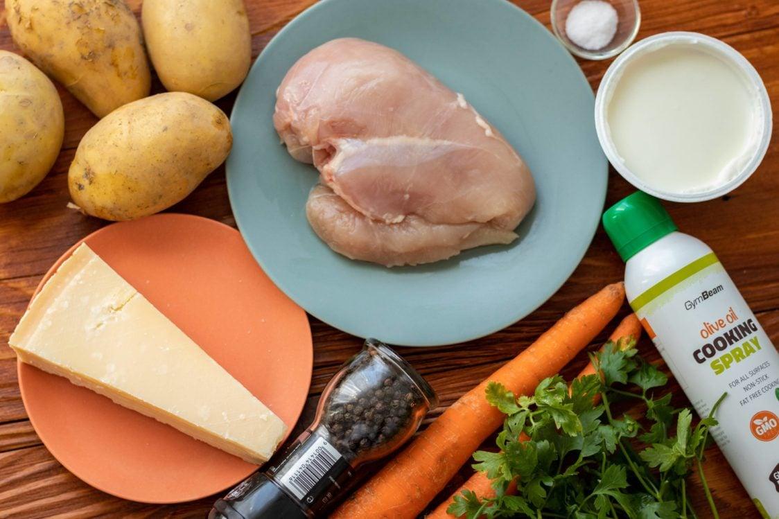 Ingredienti per la ricetta fitness: petto di pollo al forno con marinata allo yogurt