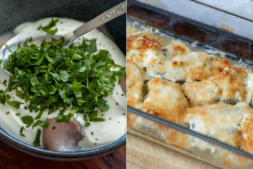 Preparazione per la ricetta fitness: petto di pollo al forno con marinata allo yogurt
