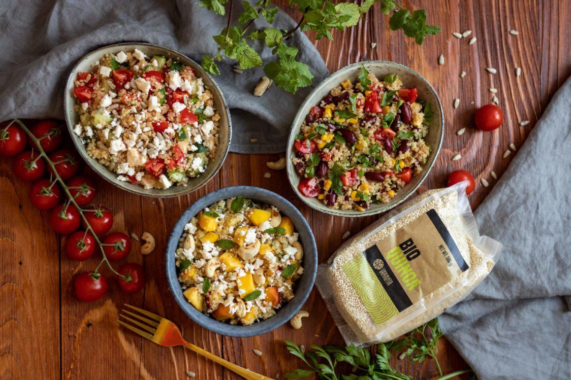 Rețetă fitness: Salată de quinoa 3x variante