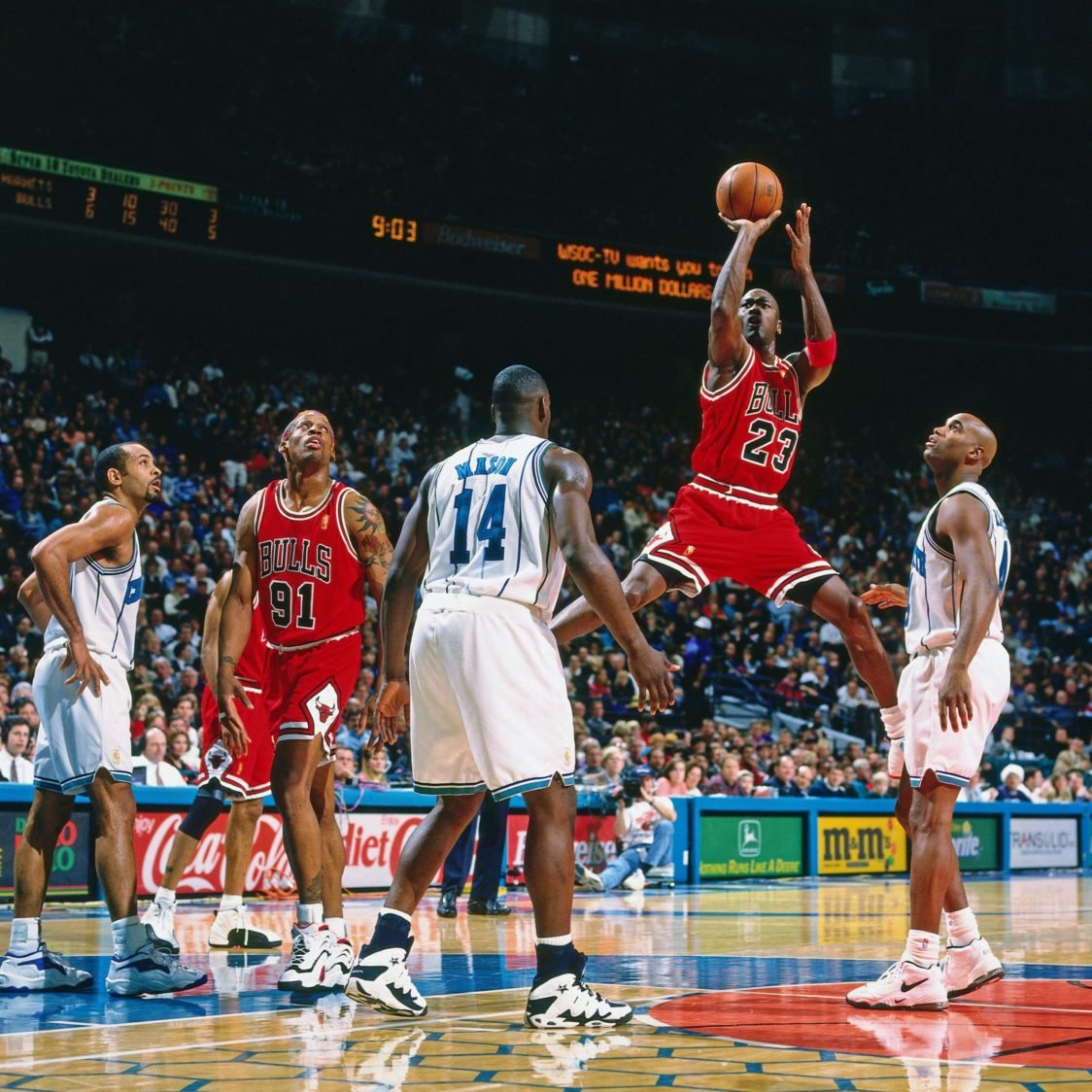 Michael Jordan v dresu Chicago Bullsov