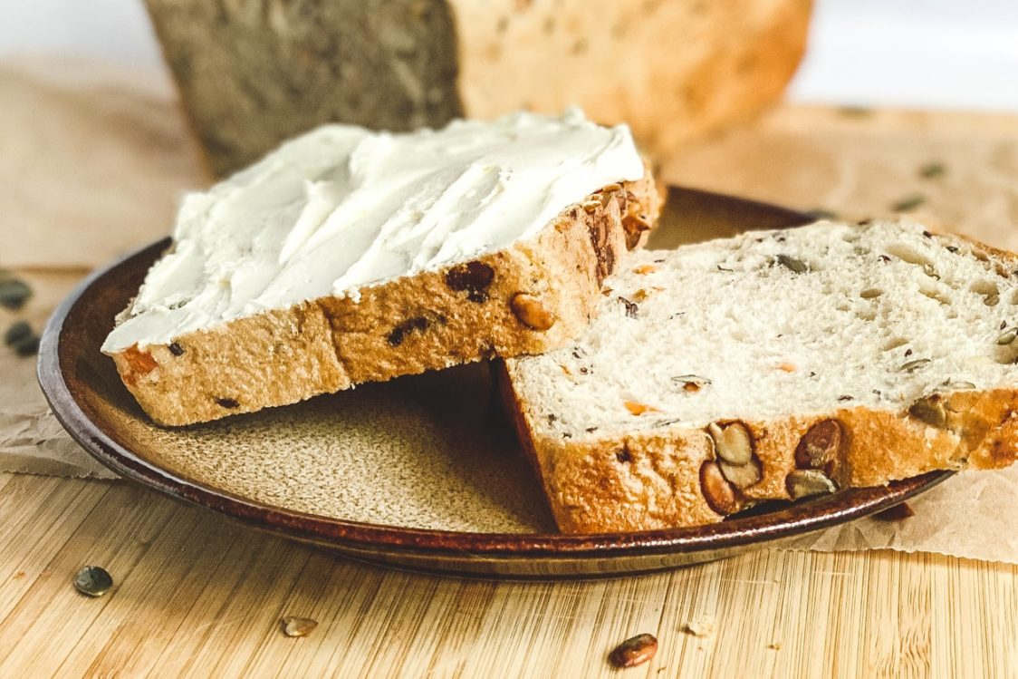 Fitness recipe: Carrot bread with pumpkin seeds