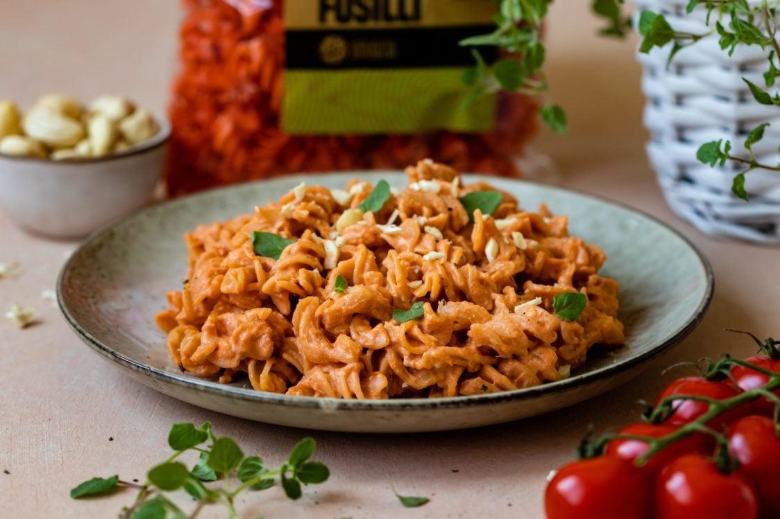Fitness Recipe: Lentil Pasta with Creamy Tomato Sauce