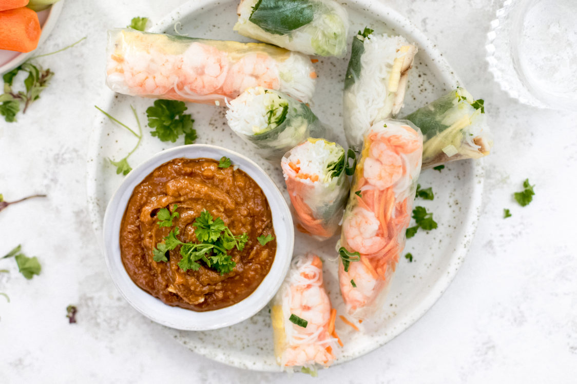 Fitness Recipe: Quick Spring Rolls with Vegetables and Prawns