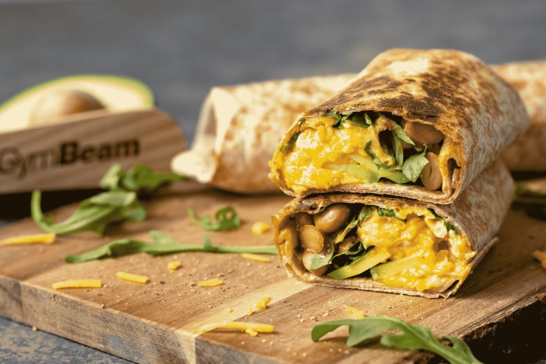 Fitness Recept: Burrito za brzi doručak s grahom, avokadom i jajima
