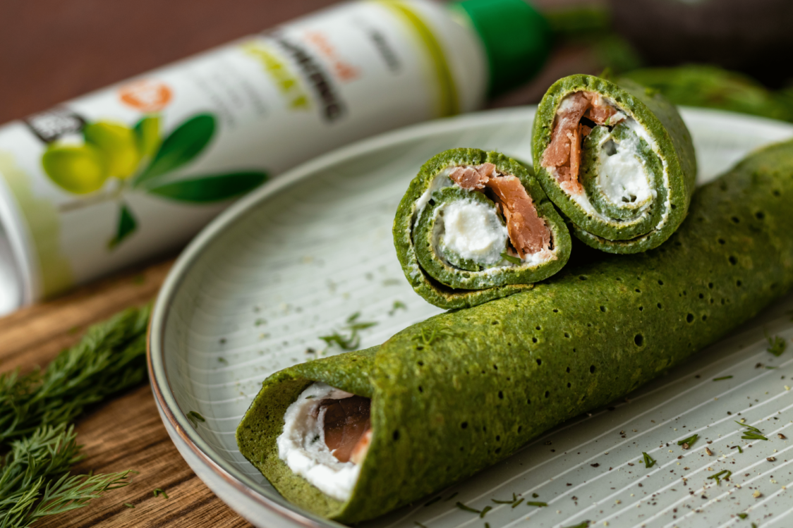Fitness Recipe: Savoury Spinach Pancakes Filled with Ricotta and Salmon