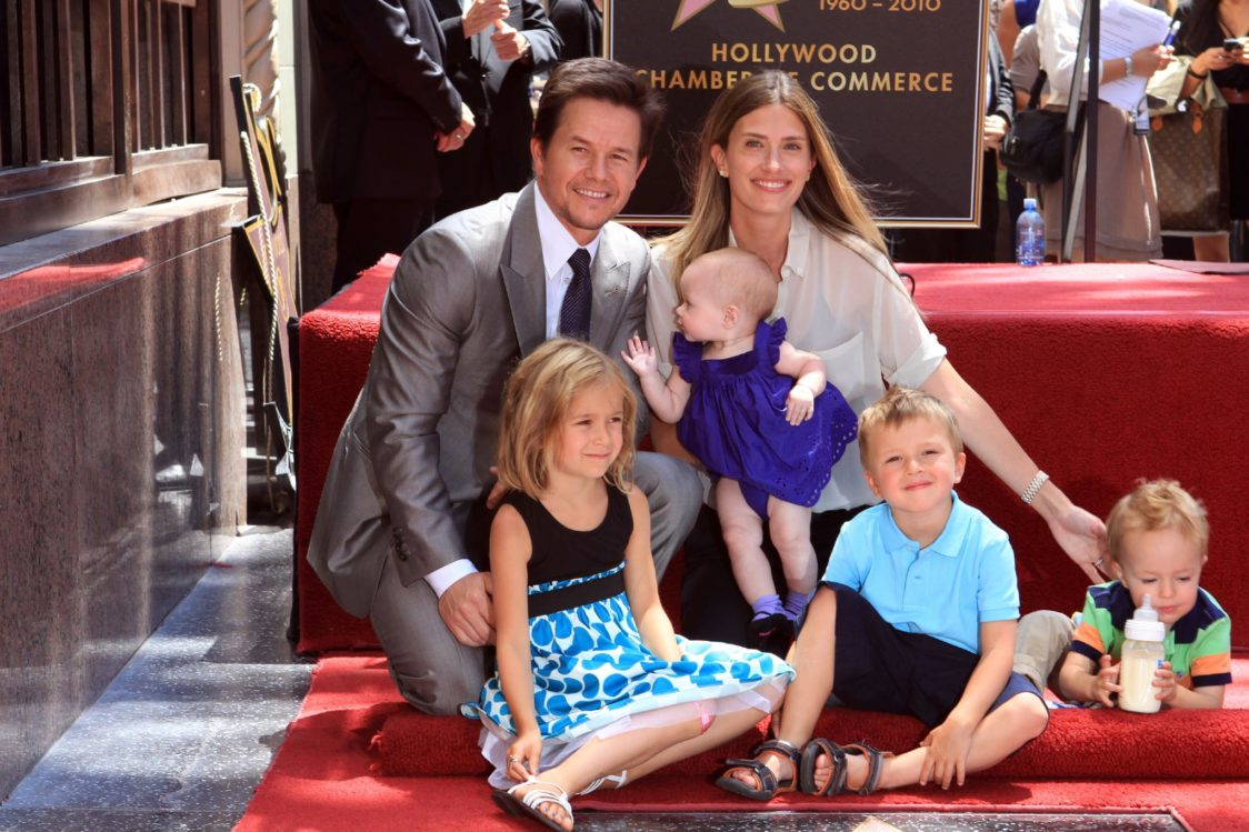 Mark Wahlberg with family