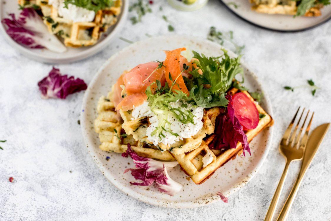 Fitness Recipe: Savoury Waffles with Spinach & Smoked Salmon