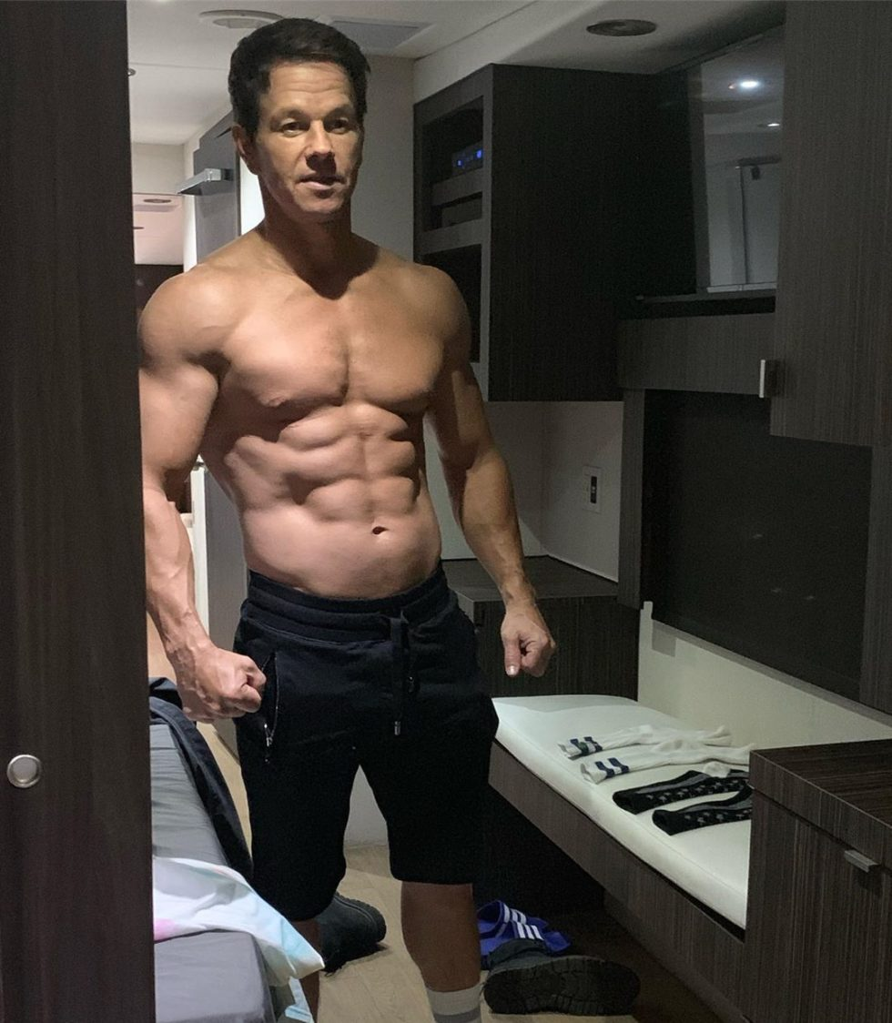 Mark Wahlberg loves working out
