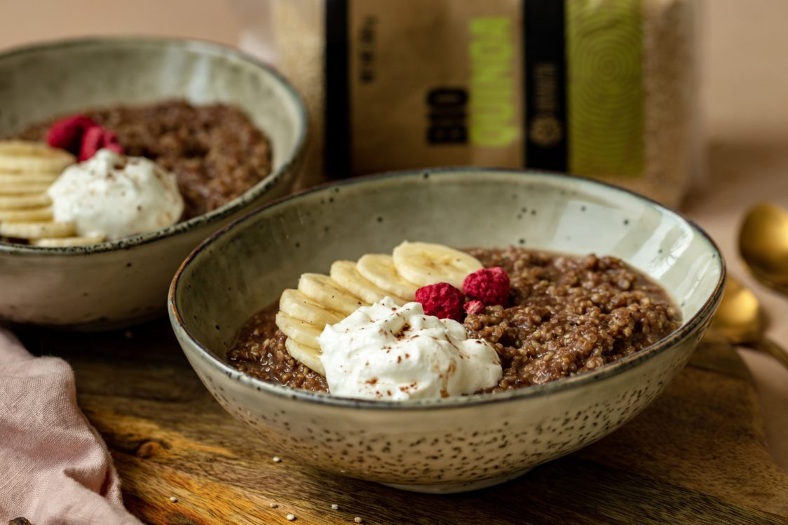 Fitness recipe: Protein Quinoa with Rich Taste of Chocolate & Banana