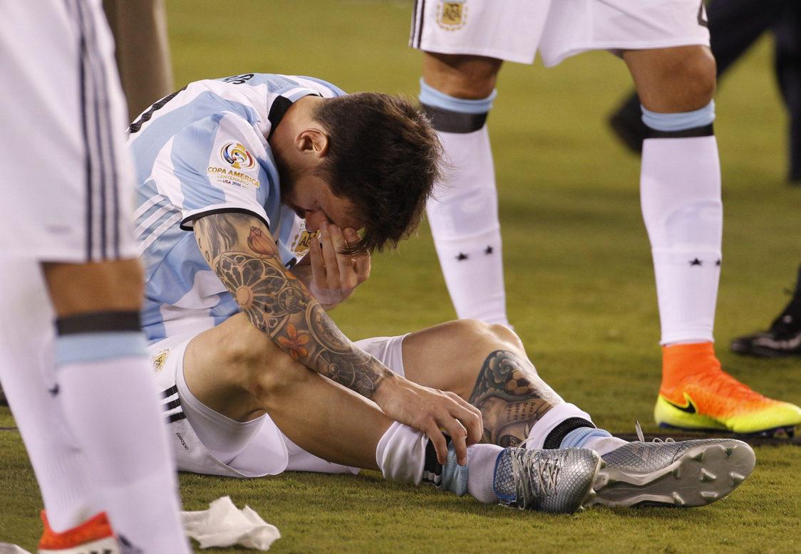 Lionel Messi după pierderea suferită de Argentina