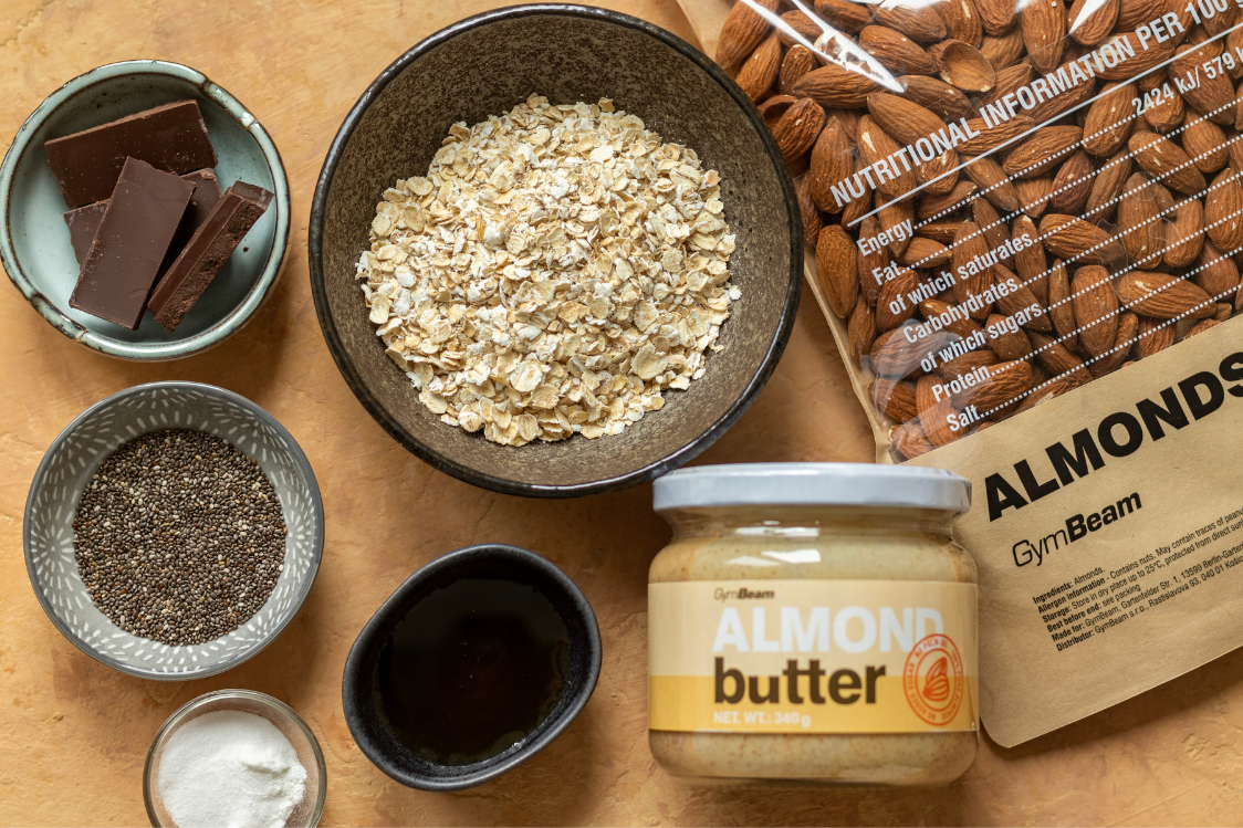 Ingredients for Almond Biscuits with Chocolate Bits