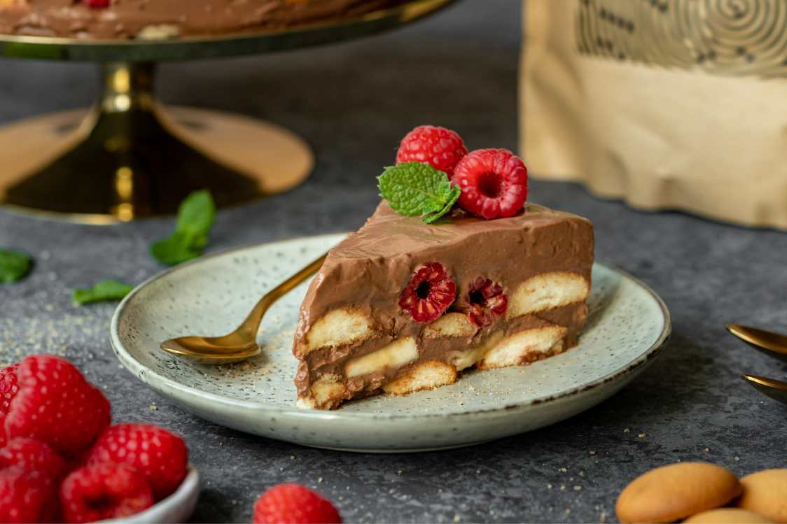 Fitness Recipe: No-Bake Chocolate Cake of Ladyfingers, Fruit and Curd