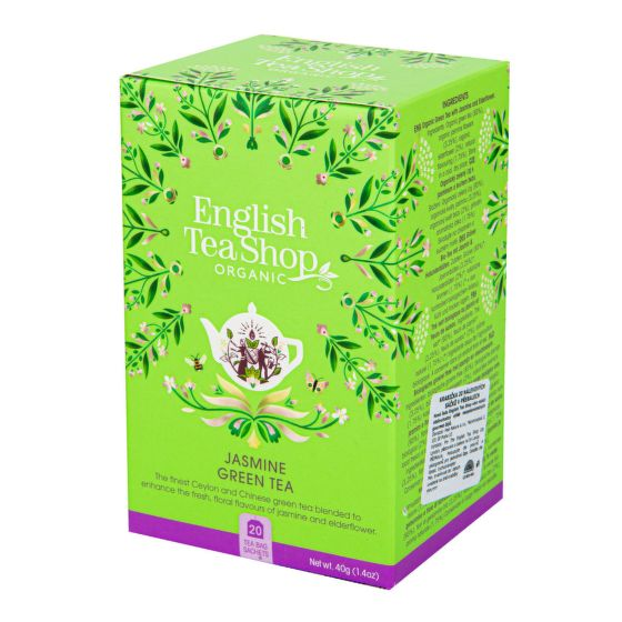English Tea Shop Čaj Zelený s jasmínom a kvetom bazy 40 g
