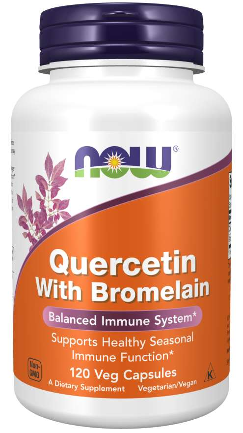 NOW Foods Quercetin with Bromelain 120 kaps.