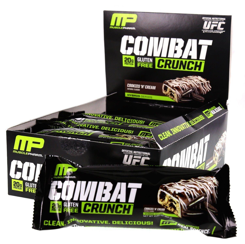 MusclePharm Combat Crunch 63 g dvojité plnené cookie cesto