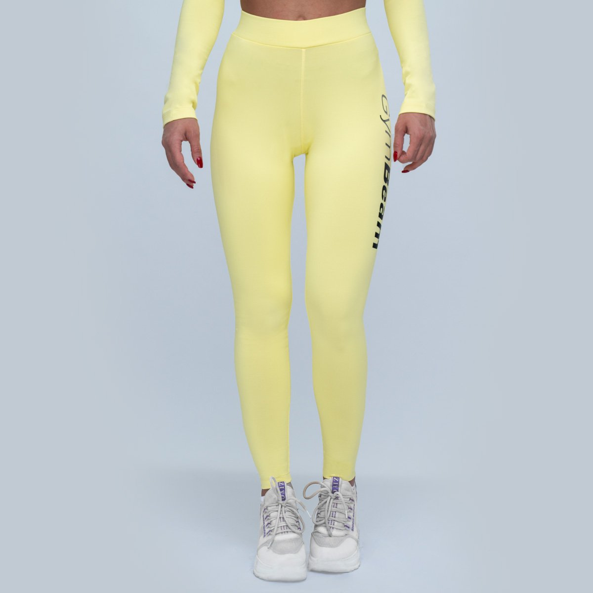 GymBeam Women s Leggings Advanced Lemon  L