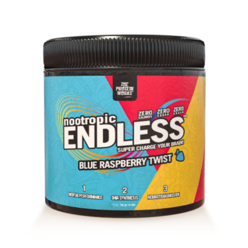 TPW Endless Nootropic 300 g modrá malina twister