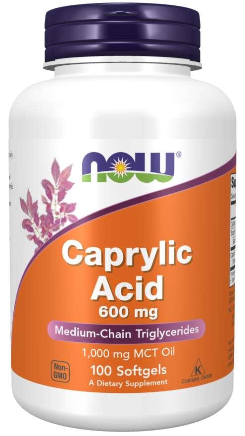 Now Foods Kyselina Kaprylová 600 mg 100 kapsúl