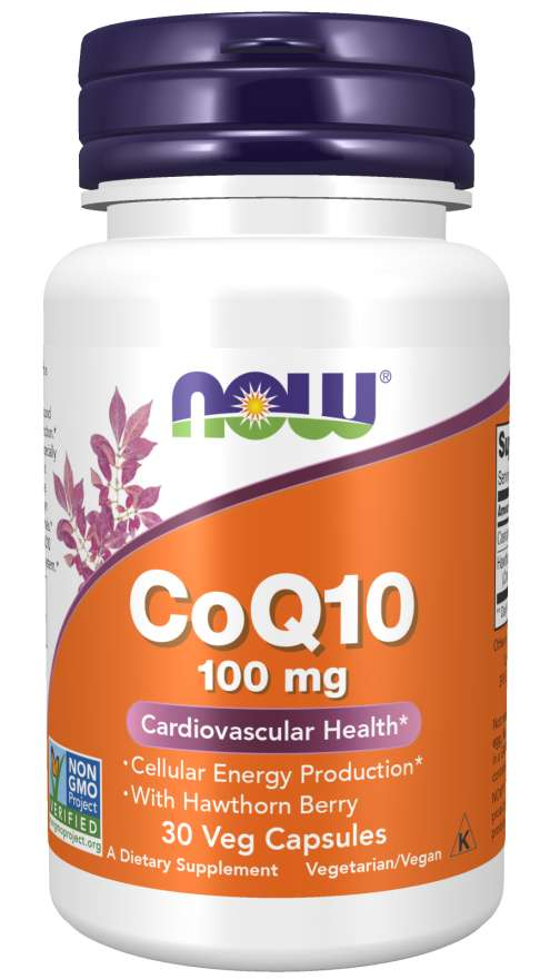 Now CoQ10 koenzym Q10 + Hawthorn Berry hloh 100 mg 30 kaps.