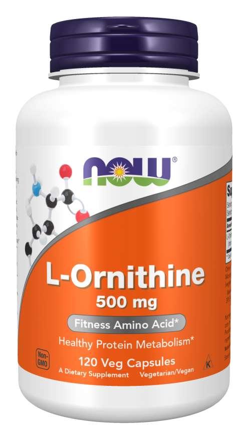 NOW Ornithine 500 mg 120 kapsúl
