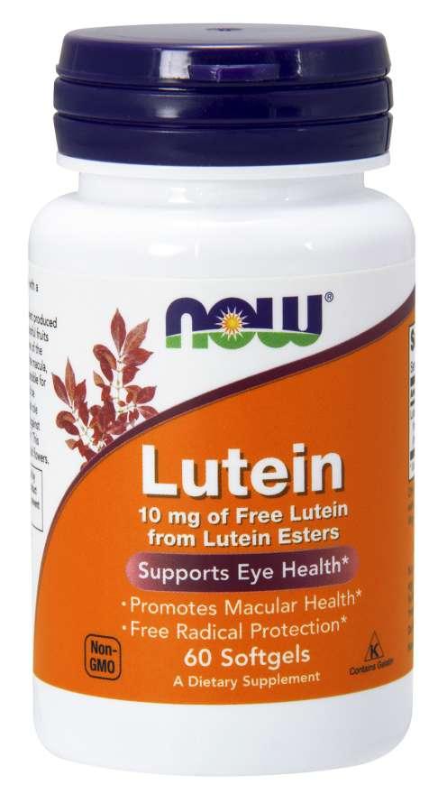 Now Foods Lutein 10 mg 60 kapsúl