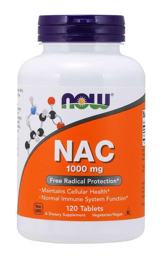 Now Foods NAC 600 mg 100 kapsúl