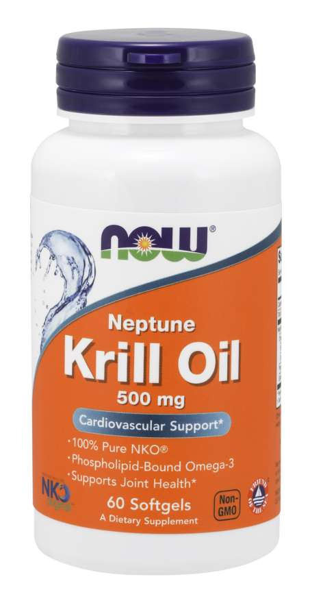 NOW Krill Oil Neptune olej z krilu 500 mg 60 softgel kapsúl 120 kaps.