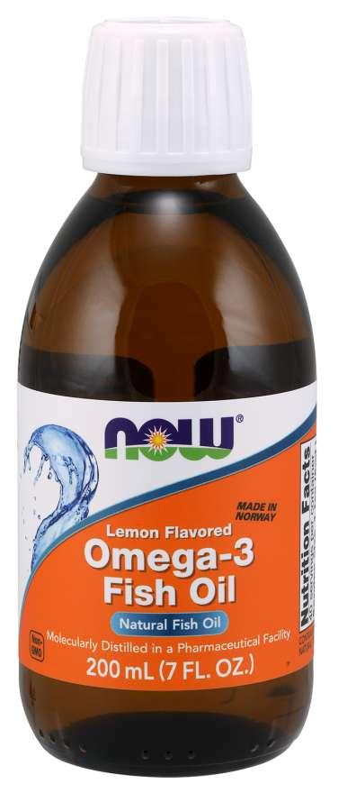 NOW Foods Rybí olej Omega-3 200 ml