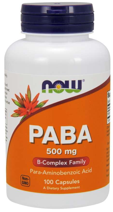 NOW Foods PABA 500 mg 100 kapsúl