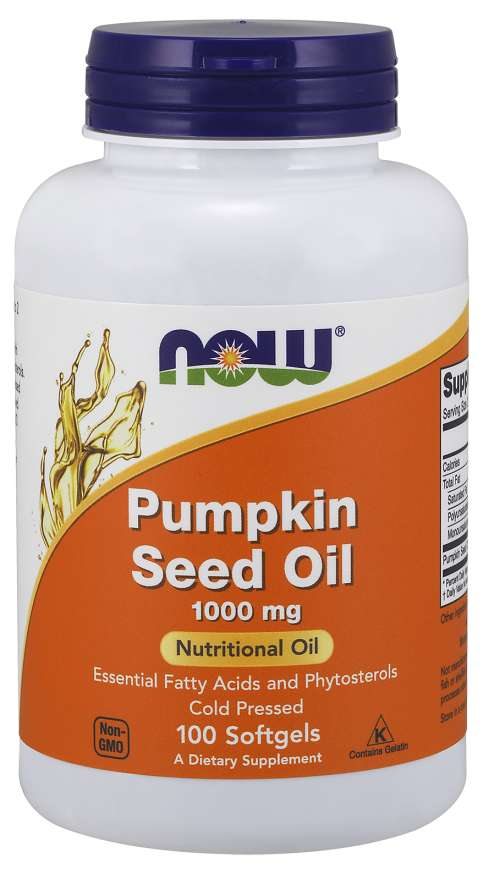 NOW Foods Pumpkin Seed Oil 1000 mg 100 kaps.