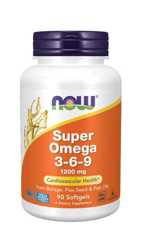 NOW Foods Super Omega 3-6-9 1200 mg 180 softgel kapsúl 180 kaps.
