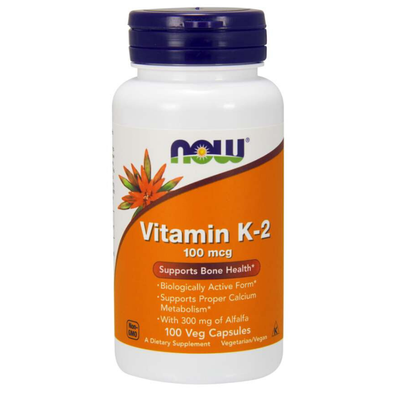 NOW Foods Vitamín K-2 100 mcg 100 kaps.