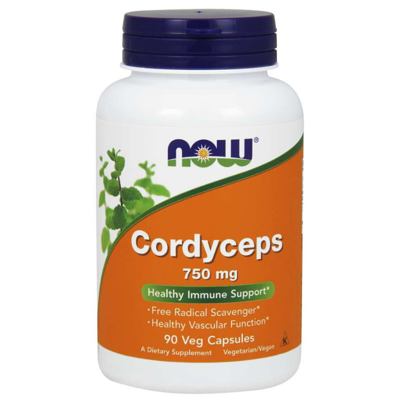NOW Foods Cordyceps 750 mg 90 kaps.