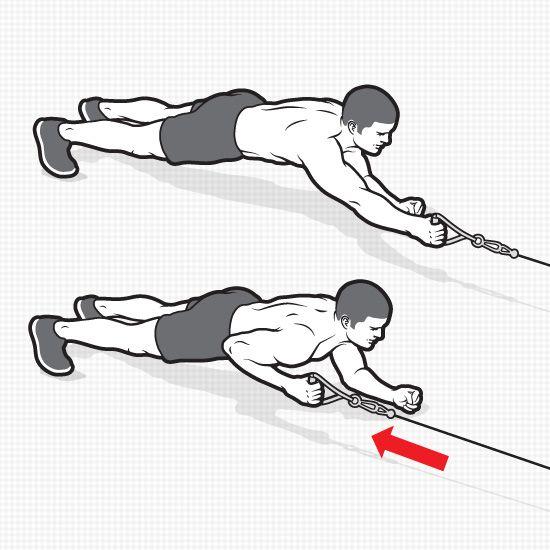 6 efektívnych cvikov k dosiahnutiu six-packu Plank Cable row