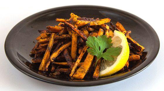 Hranolky zo sladkých zemiakov s koriandrom a citrónom recept