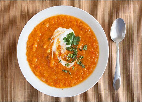polievka zo sladkých zemiakov recept