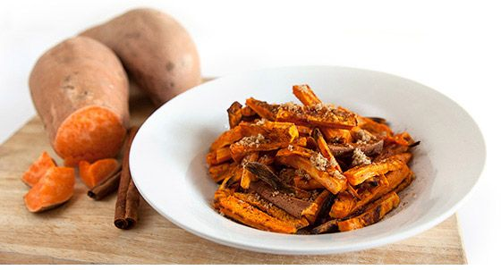 Hranolky zo sladkých zemiakov so škoricou