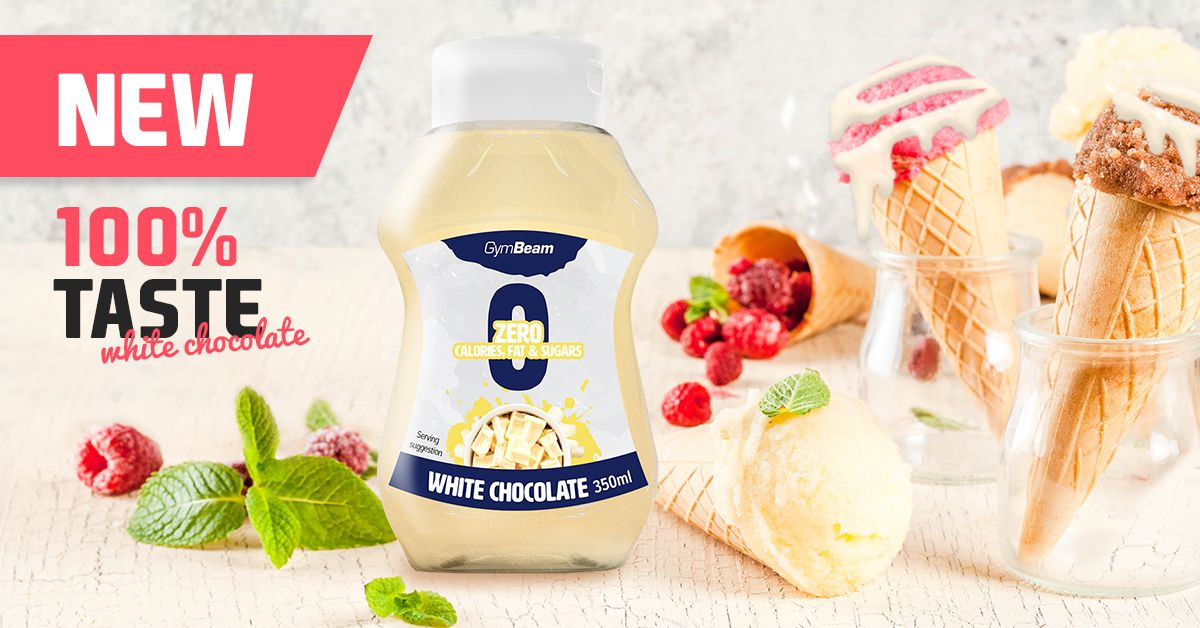 Bezkalorický sirup White Chocolate 350 ml - GymBeam