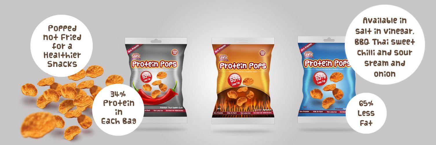 Protein Pops Protein Snax slaný proteínový snack