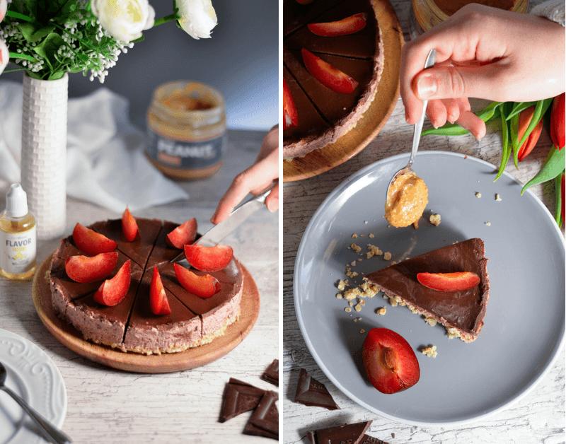 Jednoduchá nepečená čokoládová torta - fitness recept s tvarohom