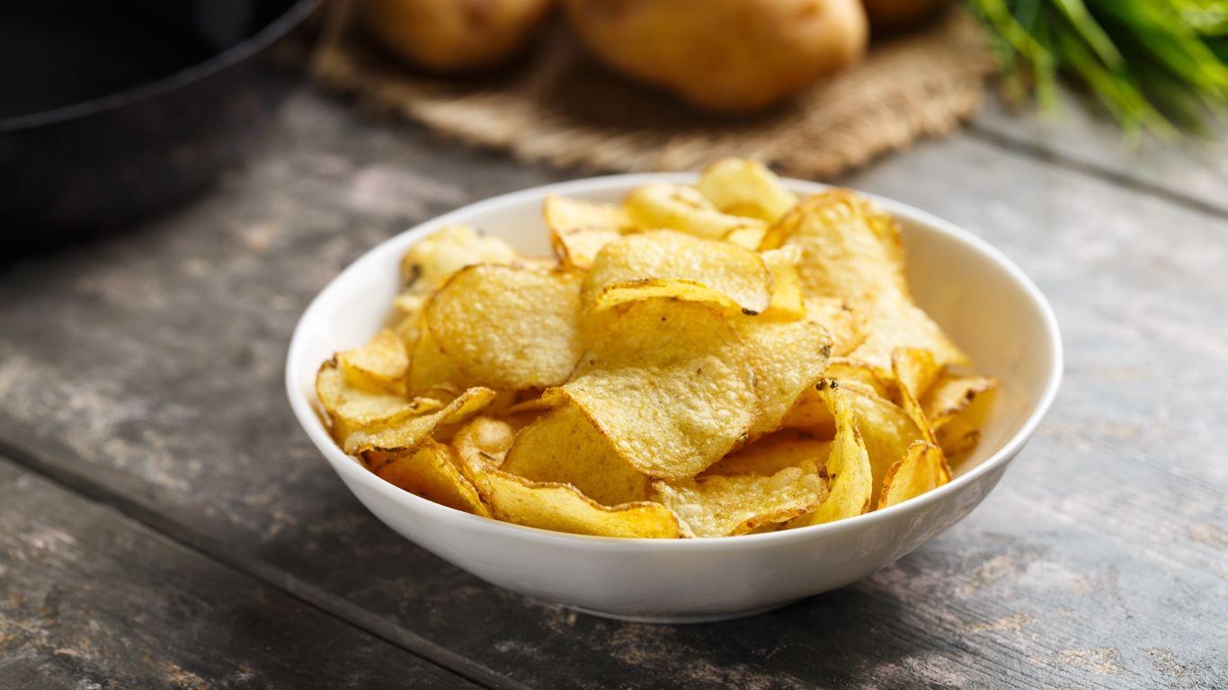 hubnutí chipsy lupínky