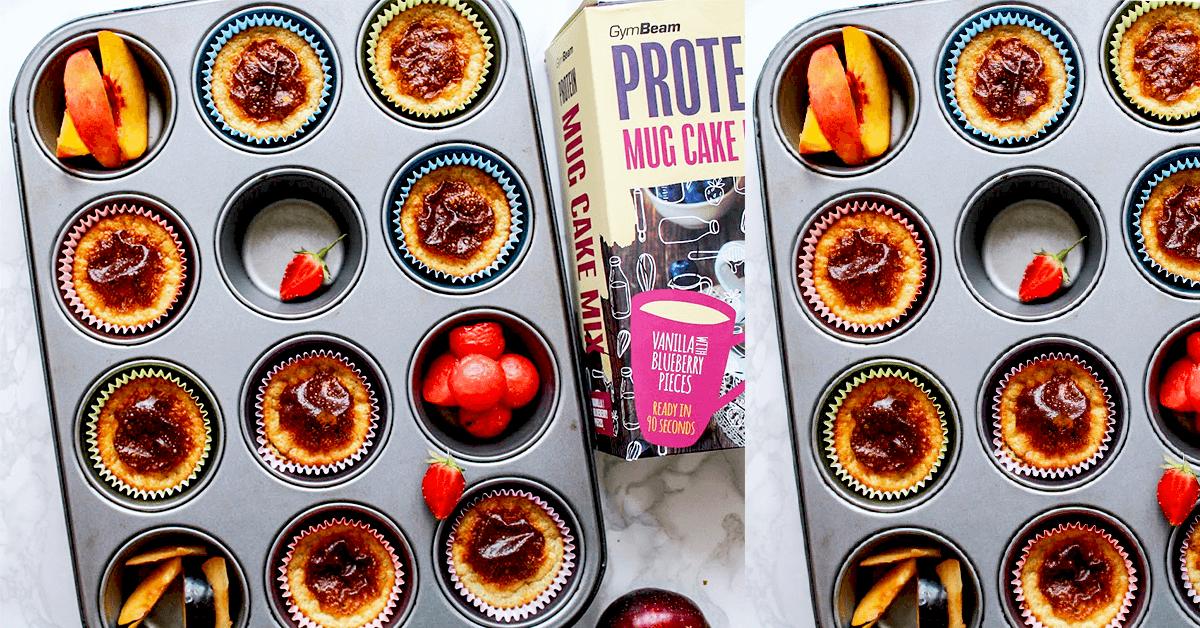 Joghurtos – fehérjés muffinok - 5 ízletes fitt recept a Mug Cake Mix fehérjés keverék felhasználásával