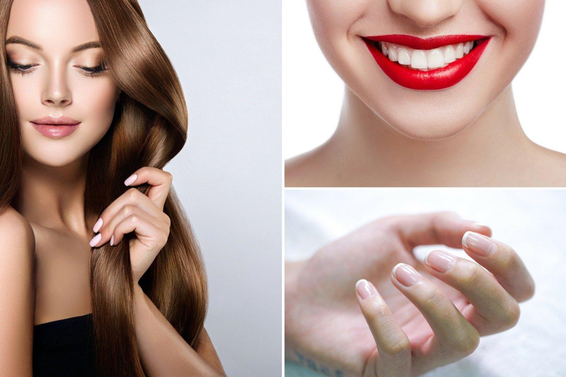 Kolagén podporuje vlasy, zuby, nechty
