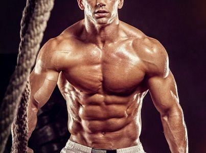 viac svalov, viac spáleného tuku, viditeľné brušné svalstvo
