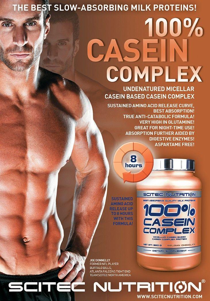 100% Casein Complex - Scitec - nočný proteín