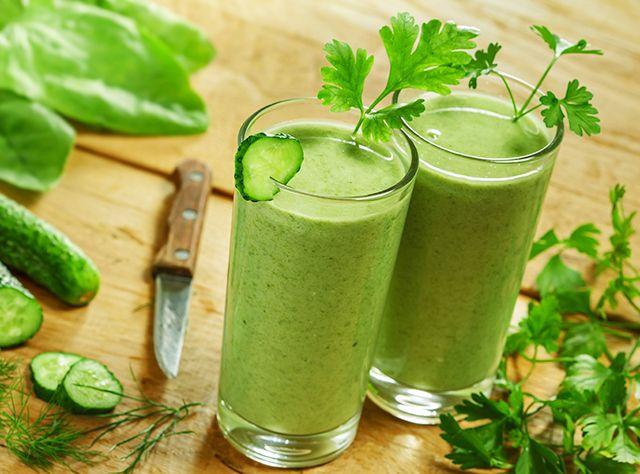 zelené smoothie s vysokým obsahom vlákniny recept