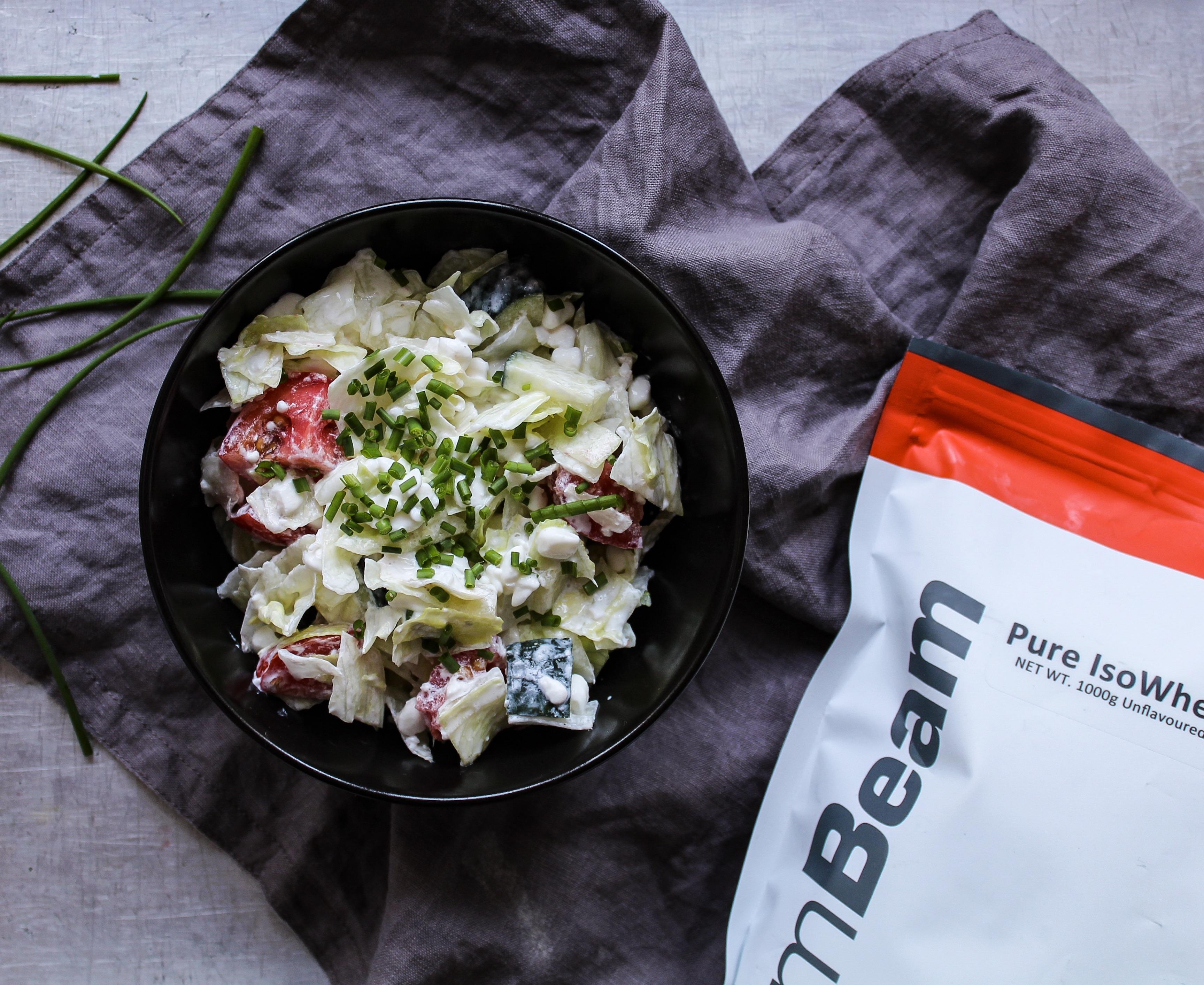 Ľahký proteínový šalát - fitness recept s proteínom