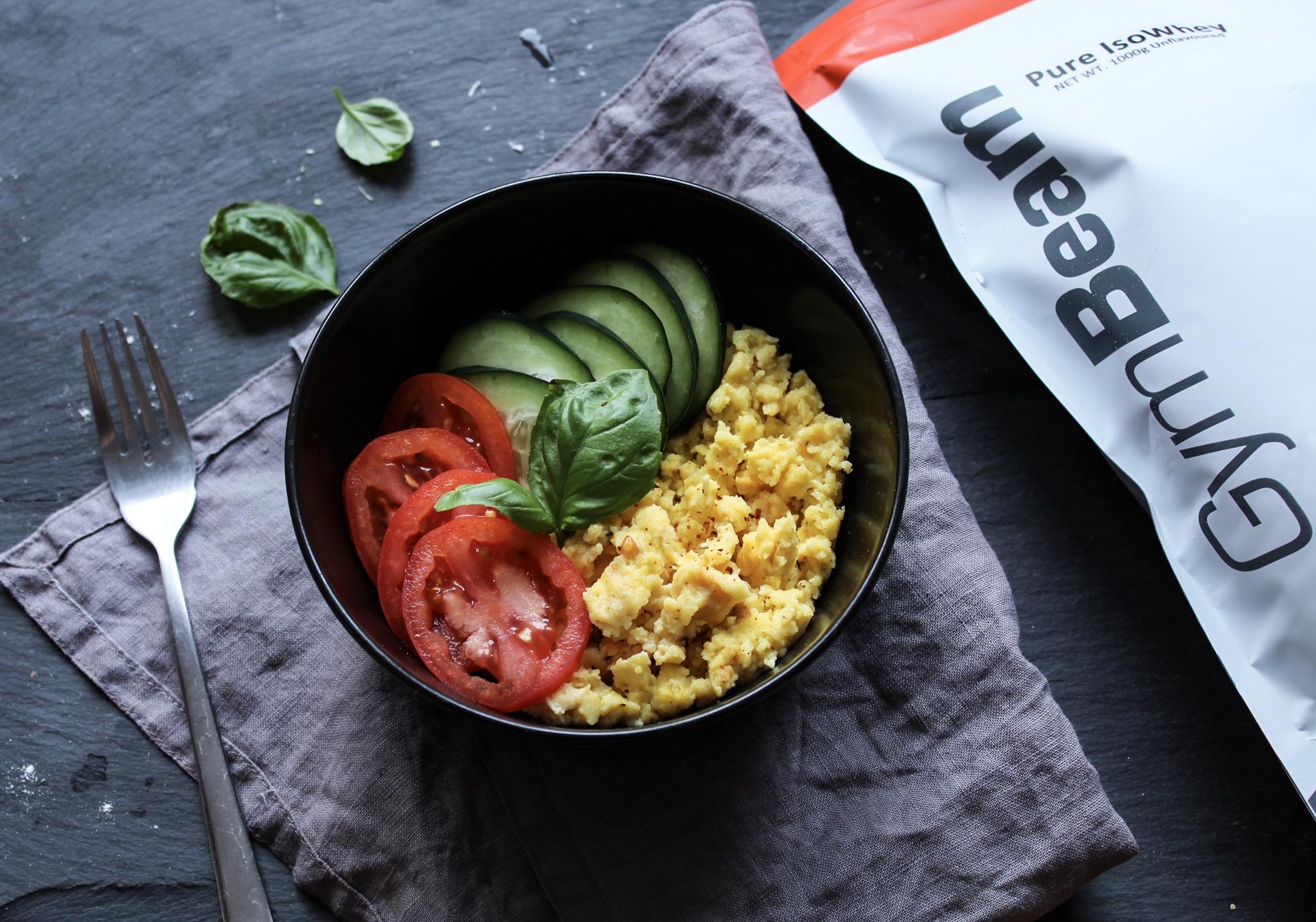 5-minútová proteínová praženica - fitness recept