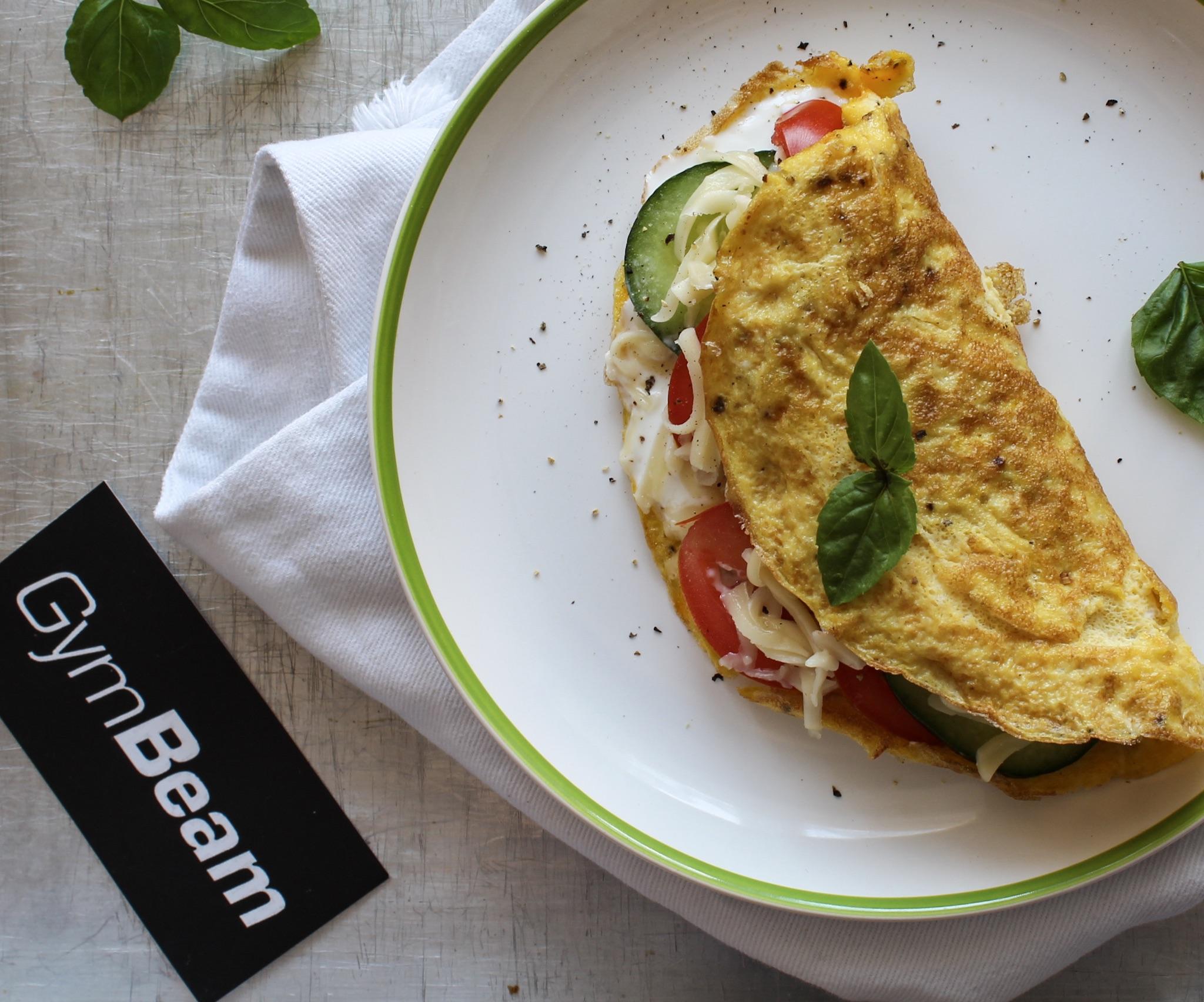 5-minútová proteínová omleta - fitness recept